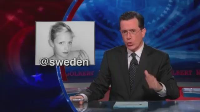 Stephen Colbert Sucks On An iPhone