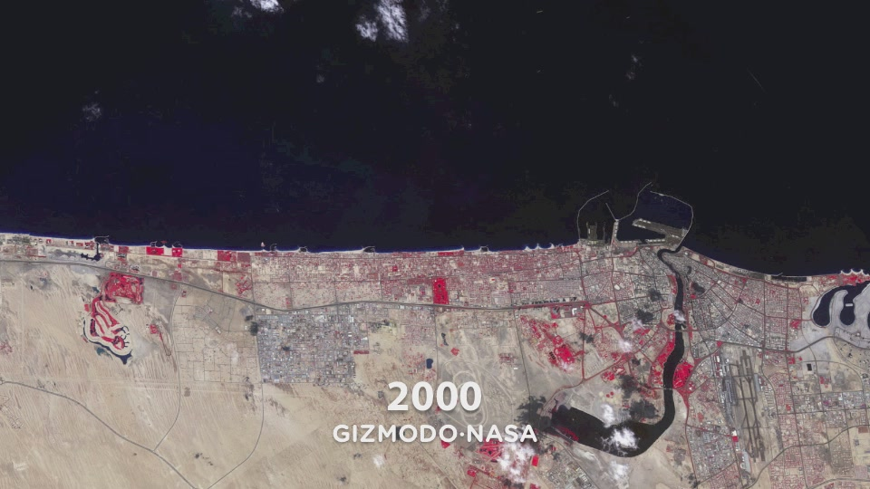 11 Years Of Dubai's Growth Seen From Space