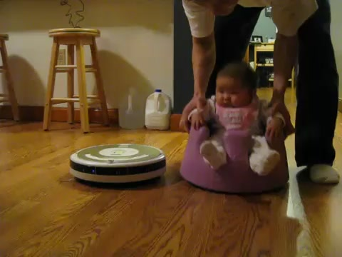 Baby Goes On A Roomba Joyride