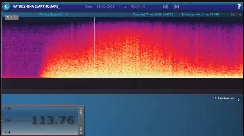 The Actual Sound Of The Japan Earthquake Captured Underwater