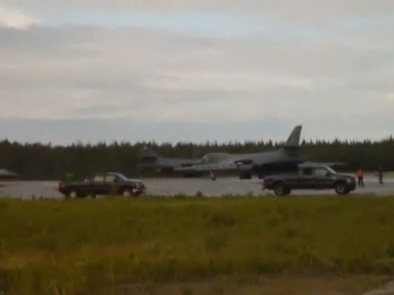 This Is What Happens When A Fighter Jet Gets Too Close To A Bomber