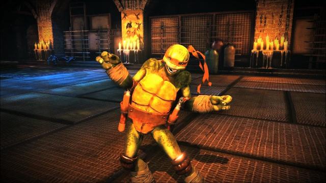 Watch A Teenage Mutant Ninja Turtle Kick A Bad Guy In The Nuts