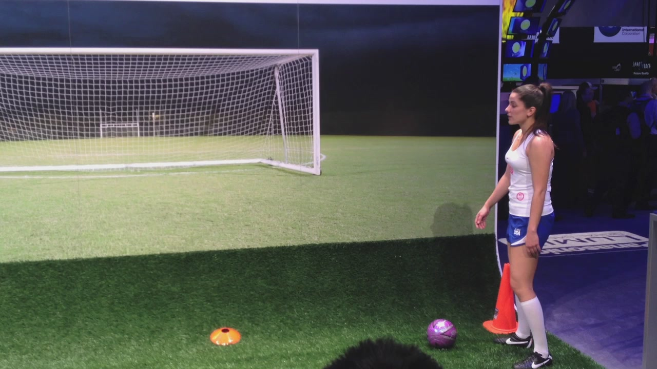 Two Girls Kicking A Ball Is The Most Awkward Thing I've Seen At CES Today