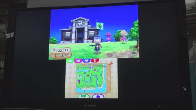 15 Minutes Of The English Version Of Animal Crossing: New Leaf. Let's Go Swimming!