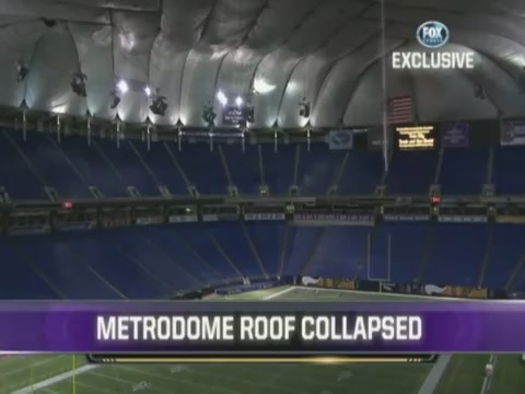 Watch The Metrodome Collapse From The Inside
