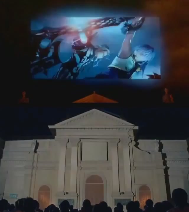 Watch Kingdom Hearts 3D's Intro Projected On The Side Of A Building