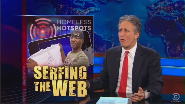 Jon Stewart Is Not Amused By SXSW Homeless Hotspots