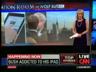 George W. Bush Is 'Addicted' To His iPad
