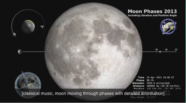NASA Creates The Most Realistic Simulation Of All Moon Phases Through One Year
